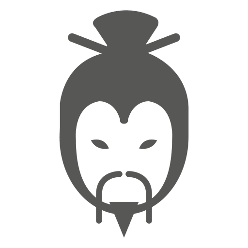 Traditoinal japanese face silhouette Transparent PNG