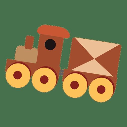 Tren de juguete de dibujos animados