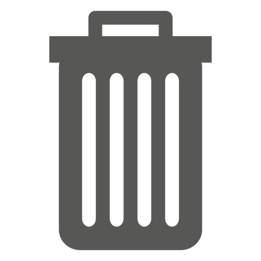 Flat trash can icon - Transparent PNG & SVG vector