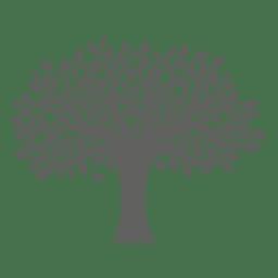 Silueta de árbol plano