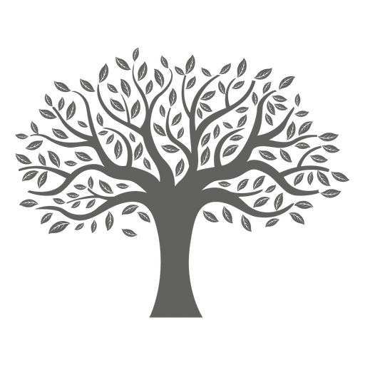 Flat tree silhouette  Transparent PNG