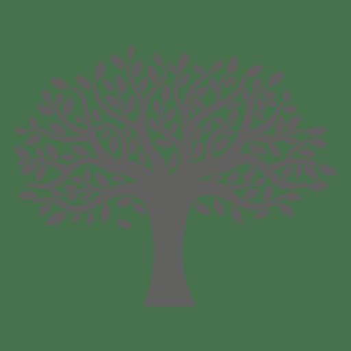 Silhueta de árvore plana
