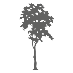 silueta del árbol 4
