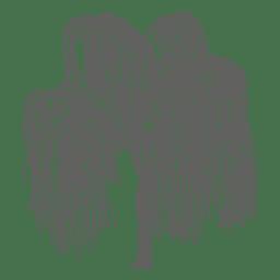 silueta del árbol 5