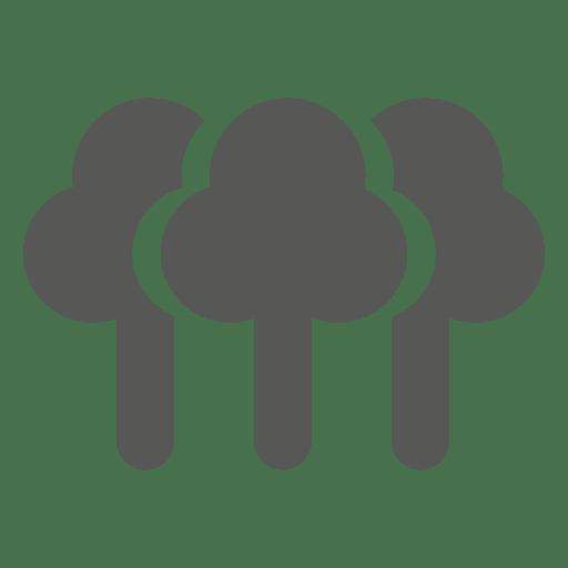 Icono de arboles Transparent PNG