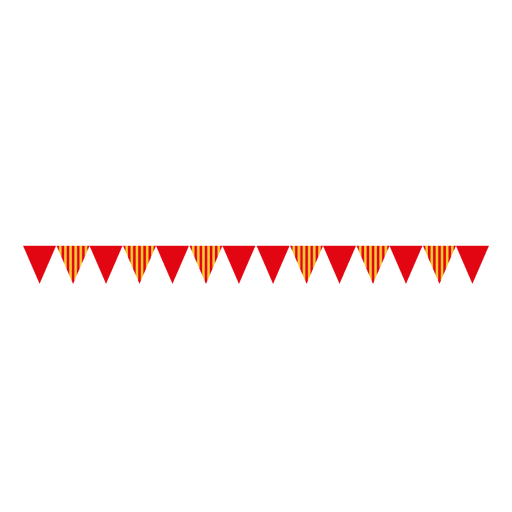 Triangle ribbon bunting 2 Transparent PNG
