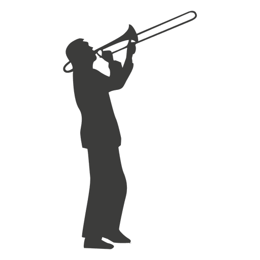 Trombone musician silhouette
