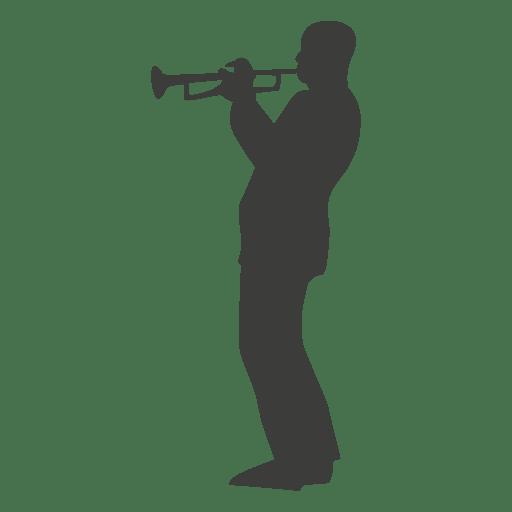Trumpet musician silhouette