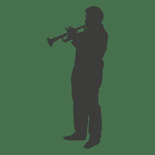 Silhueta de jogador de trompete 2 Transparent PNG