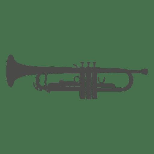 Silhueta de trompete Transparent PNG