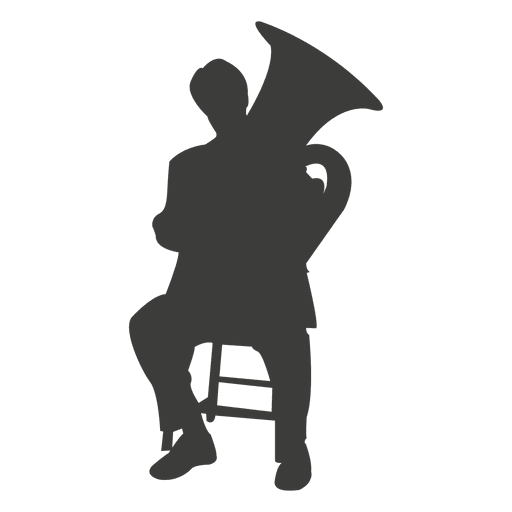 Tuba player silhouette Transparent PNG