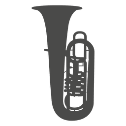 Silueta de la tuba