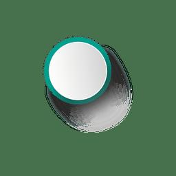 Turquoise rim white ellipse