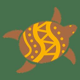 Tortuga icono decorativo