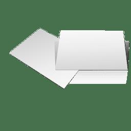 Dois cartões em branco
