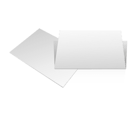 Dos tarjetas en blanco