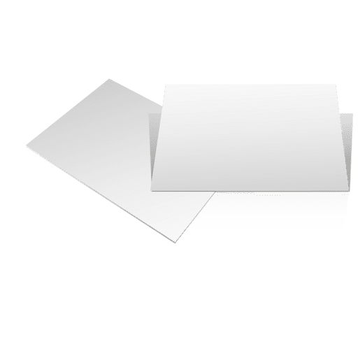 Two blank cards Transparent PNG
