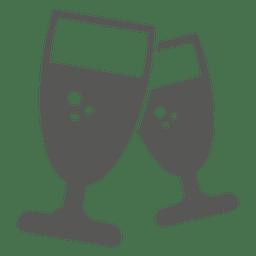 ícone de dois copos de vinho