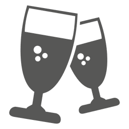 Two wine glasses icon