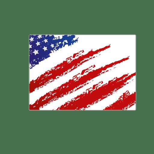 Bandera de estados unidos grunge Transparent PNG