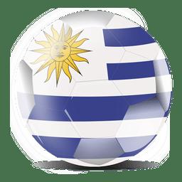 Bola de bandeira do Uruguai