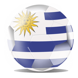 Uruguay flag ball