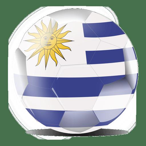 Uruguay flag ball Transparent PNG