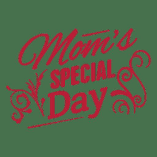 Etiqueta del día de la madre de la vendimia Transparent PNG