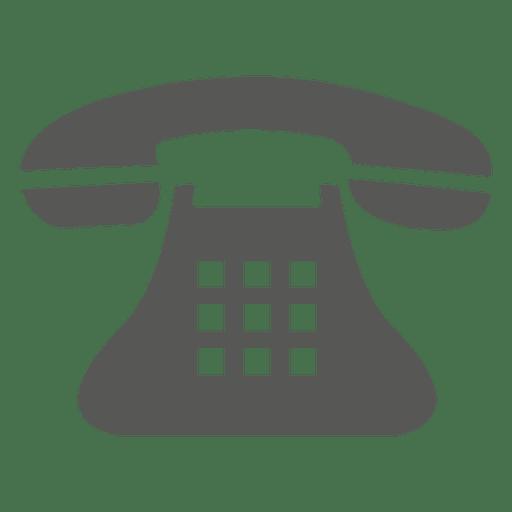 Icono de teléfono vintage Transparent PNG