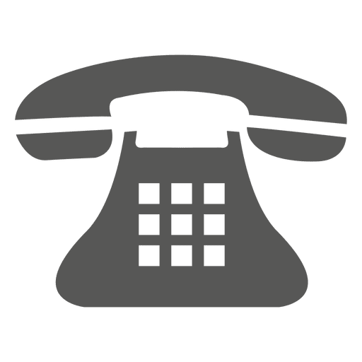 Vintage telephone icon Transparent PNG