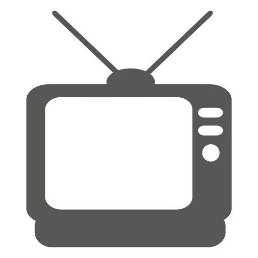 Vintage television icon Transparent PNG