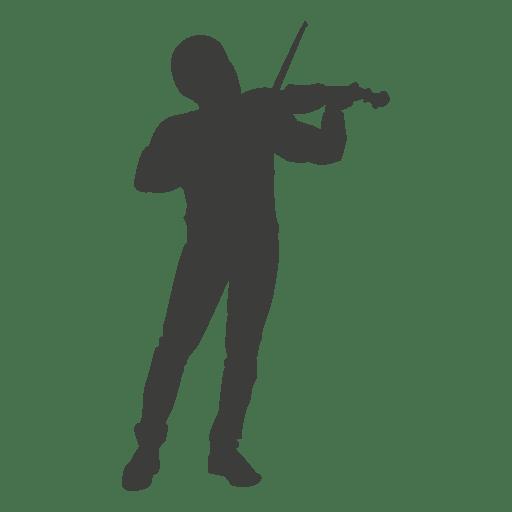 Violinista musico silueta 2 Transparent PNG