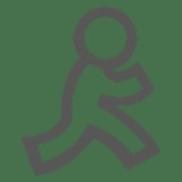 Icono humano caminando