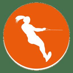 Water ski circle icon