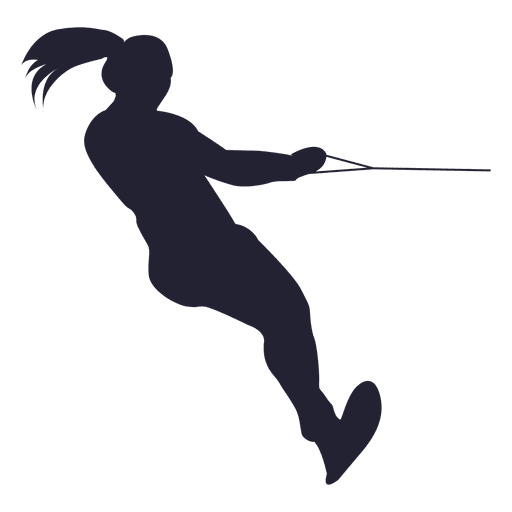Water ski girl silhouette Transparent PNG