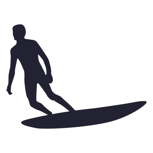 Water surfing silhouette