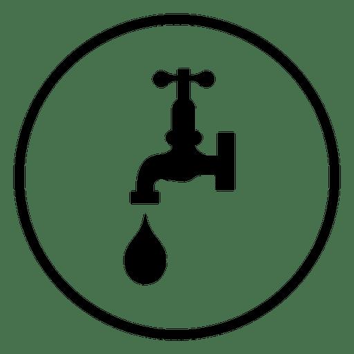 Icono de círculo de grifo de agua Transparent PNG