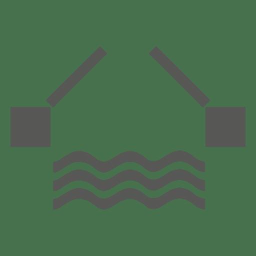 Icono de barrera de vías navegables Transparent PNG