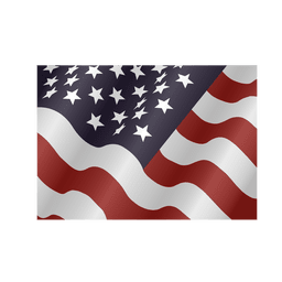 Waving usa square flag