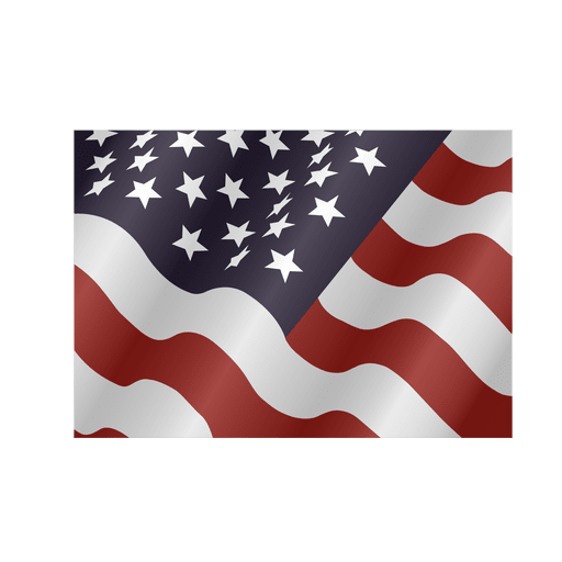 Ondeando bandera cuadrada de Estados Unidos Transparent PNG
