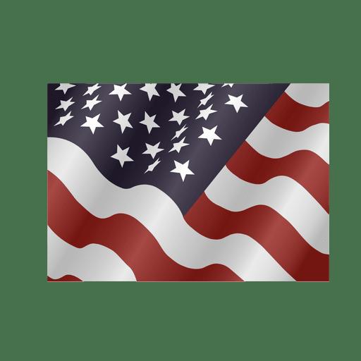 Waving usa square flag Transparent PNG