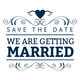 We are getting married label