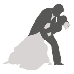 Wedding couple dancing silhouette 2