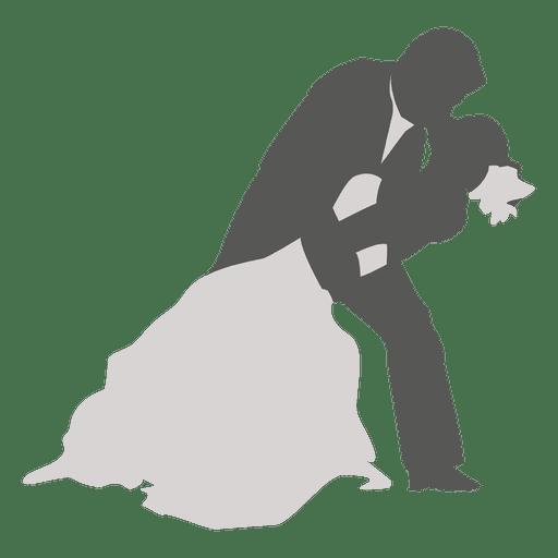 Pareja de novios bailando silueta 2 Transparent PNG
