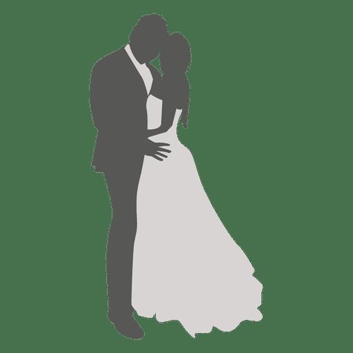 Boda pareja bailando silueta 3 Transparent PNG