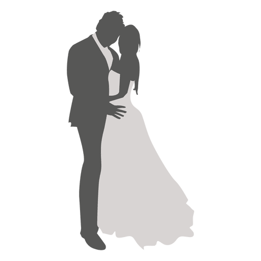 Wedding couple dancing silhouette 3 Transparent PNG