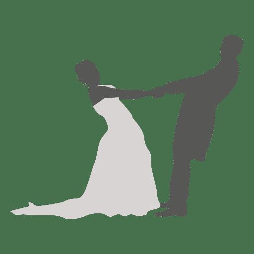 Boda pareja bailando silueta 4 Transparent PNG