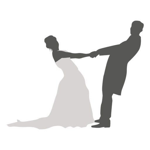 Wedding couple dancing silhouette 4 Transparent PNG