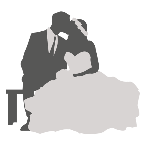 Wedding Couple Clipart Png: Wedding Couple Kissing Silhouette 2