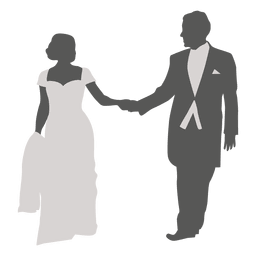 Casal de noivos romancing